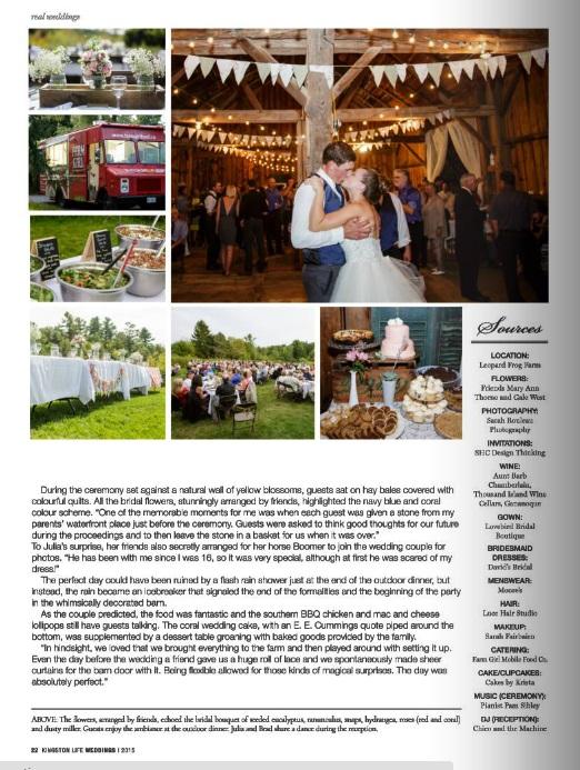 Kingston life wedding